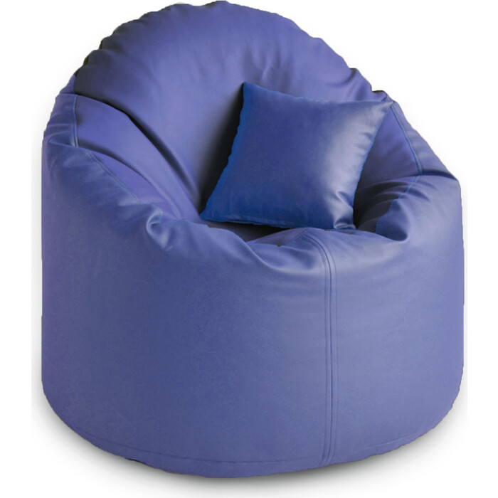 кресло бескаркасное mypuff лаунж отто бежевый экокожа l 434 Кресло бескаркасное Mypuff Лаунж отто синий экокожа L-061