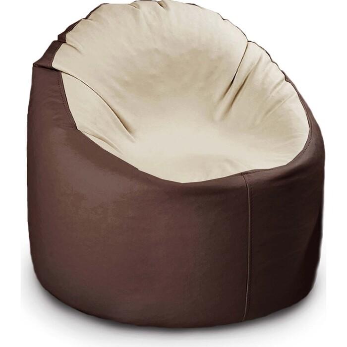Кресло бескаркасное Mypuff Лаунж отто шоколад с молоком экокожа L-147-056