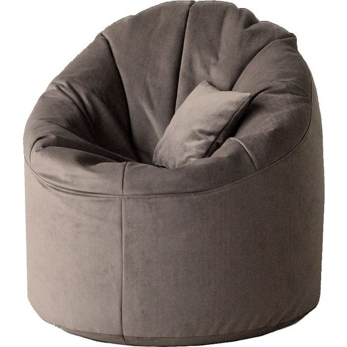 Кресло бескаркасное Mypuff Лаунж шоколад мебельный велюр L-427
