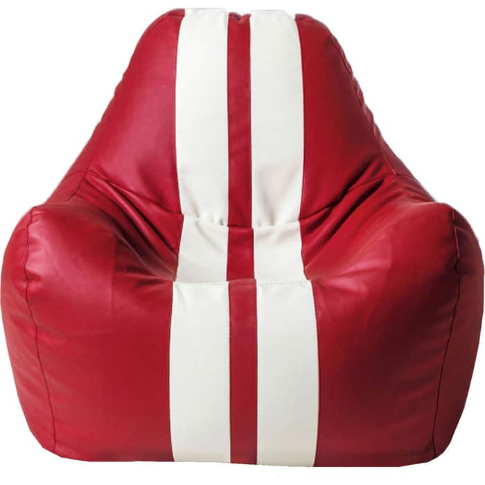 Кресло бескаркасное Mypuff Спортбэг красный экокожа sport-055-056