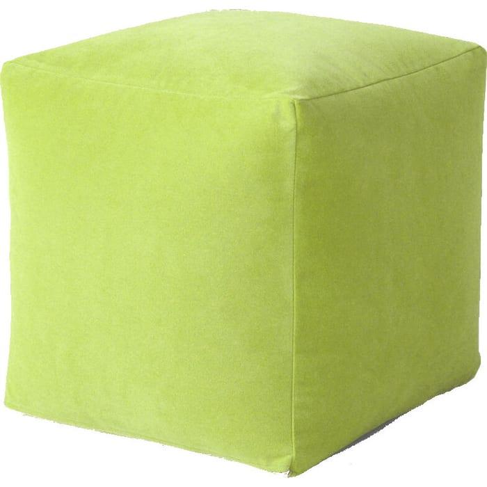 Пуфик бескаркасный Mypuff Кубик Салатовый мебельная ткань k-415