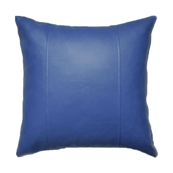 Декоративная подушка Mypuff Синяя экокожа pil-061