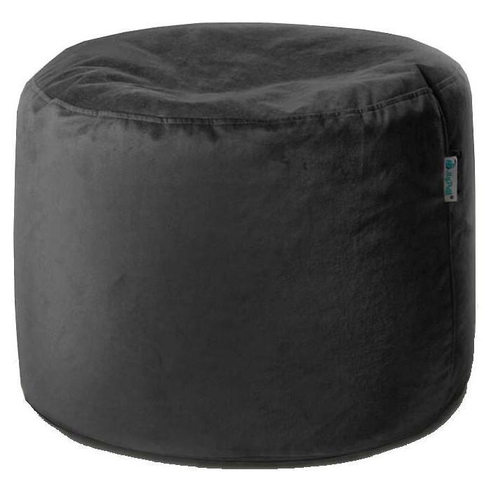 Пуфик бескаркасный Mypuff Цилиндр черный мебельная ткань pkv-471