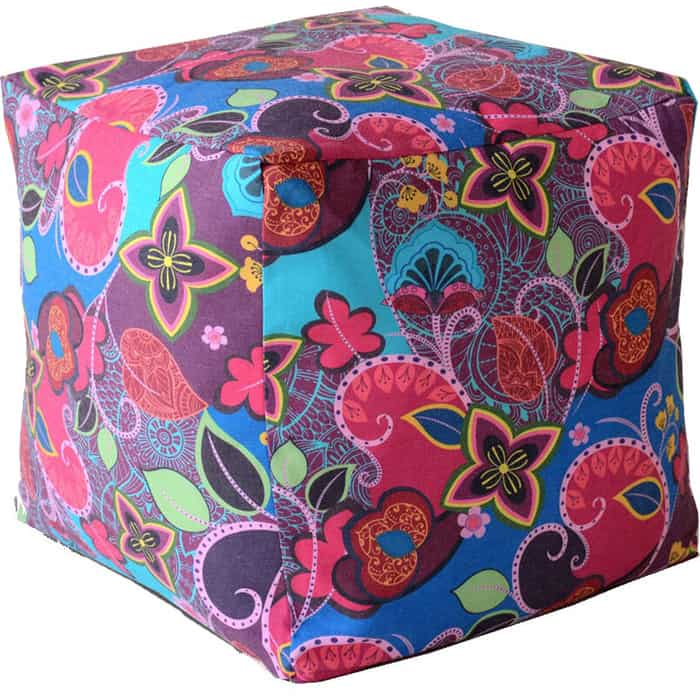 Пуфик бескаркасный Mypuff Кубик сказки Востока мебельный хлопок k-357