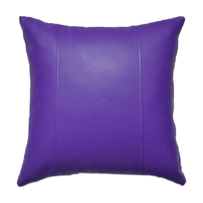Декоративная подушка Mypuff Фиолетовая экокожа pil-285