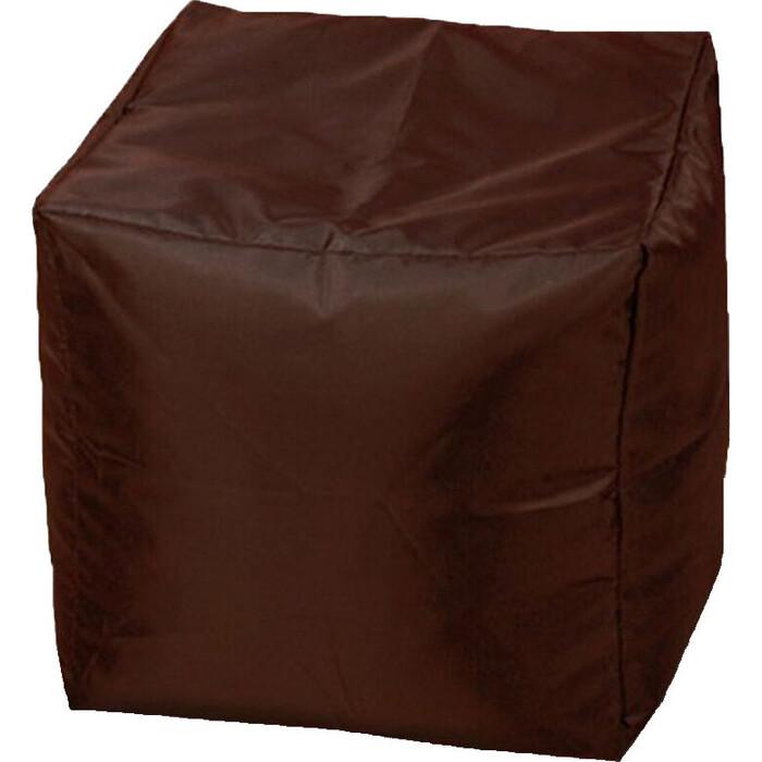 Пуфик бескаркасный Mypuff Кубик шоколад оксфорд k-022