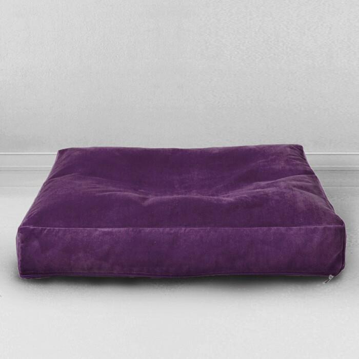 Лежак для собаки Mypuff Баклажан мебельная ткань 1p-467