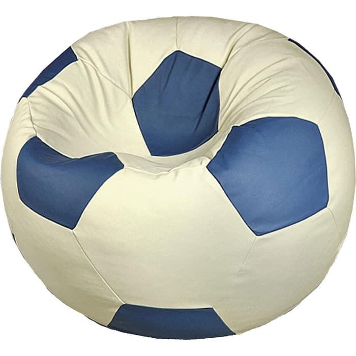 Кресло бескаркасное Mypuff Футбольный мяч Динамо экокожа ball-056-061