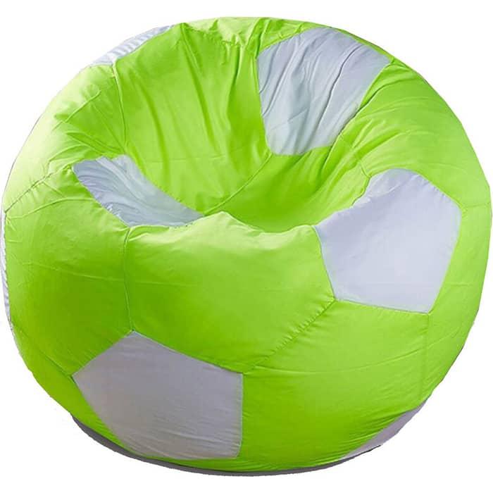 Кресло бескаркасное Mypuff Футбольный мяч Лайм оксфорд ball-217-013