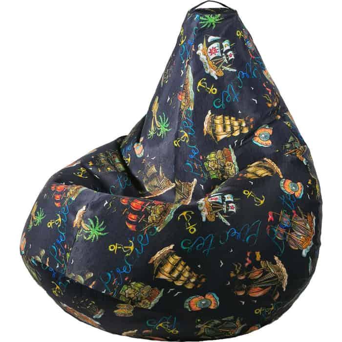 Кресло бескаркасное Mypuff Груша морское приключение размер комфорт мебельный хлопок bbb-555