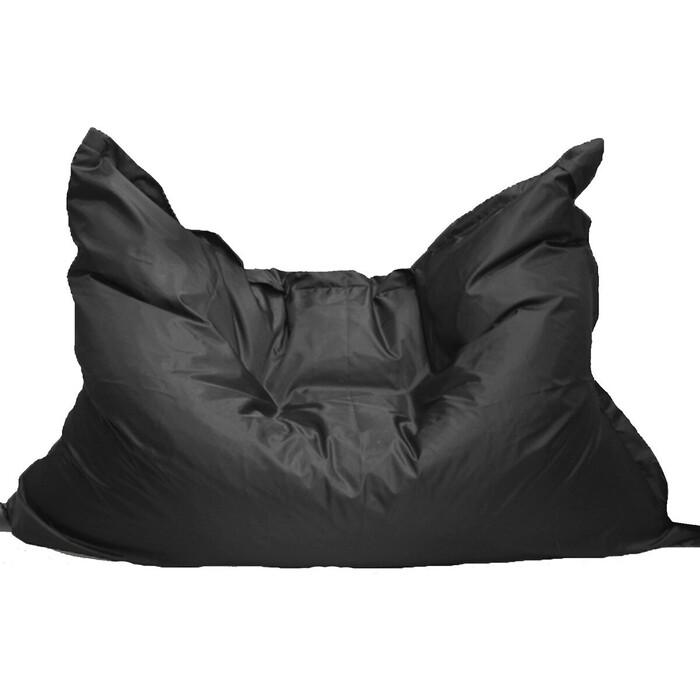 Кресло бескаркасное Mypuff Большая подушка черная оксфорд bp-020
