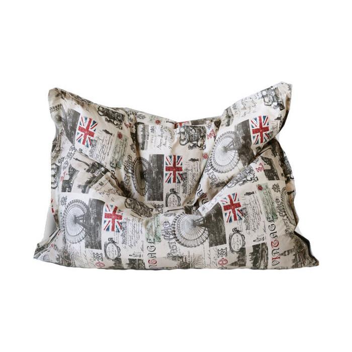 Кресло бескаркасное Mypuff Большая подушка Лондон мебельный хлопок bp-052