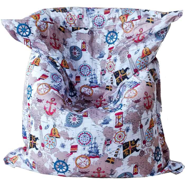 Кресло бескаркасное Mypuff Большая подушка карта мебельный хлопок bp-240
