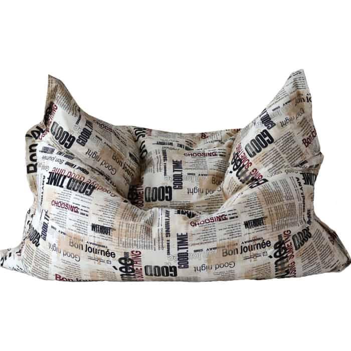 Кресло бескаркасное Mypuff Большая подушка газета мебельный хлопок bp-321