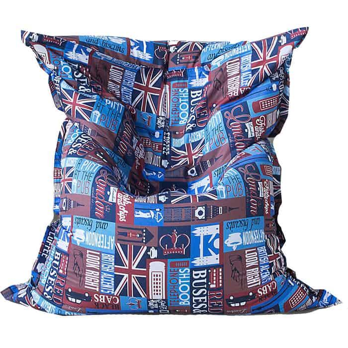Кресло бескаркасное Mypuff Большая подушка знакомый Лондон мебельный хлопок bp-392
