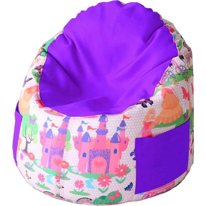 Пуфик бескаркасный для малышей Mypuff Емеля принцесса фиалка мебельный хлопок e-360-365