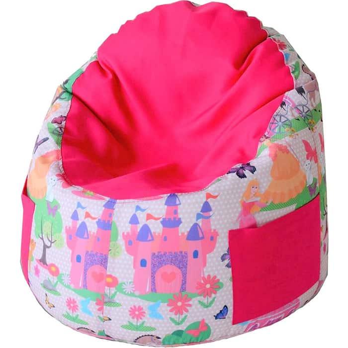 Пуфик бескаркасный для малышей Mypuff Емеля принцесса малинка мебельный хлопок e-360-366
