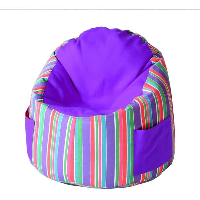Пуфик бескаркасный для малышей Mypuff Емеля радуга фиалка мебельный хлопок e-363-365