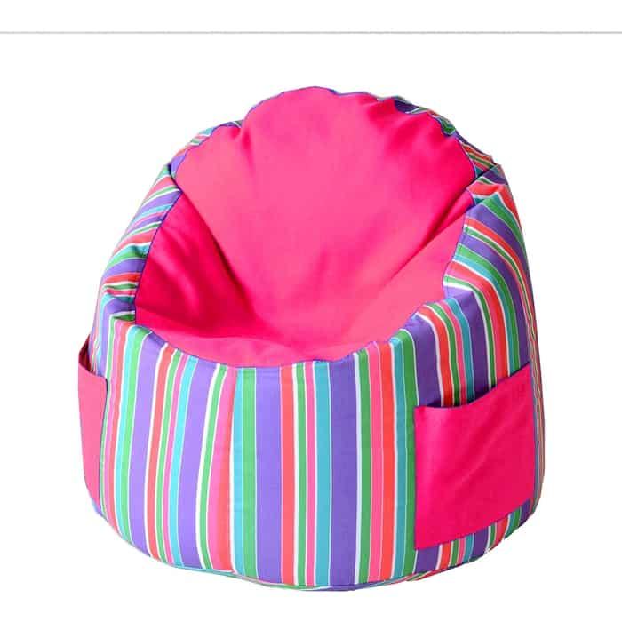 Пуфик бескаркасный для малышей Mypuff Емеля радуга фуксия мебельный хлопок e-363-366