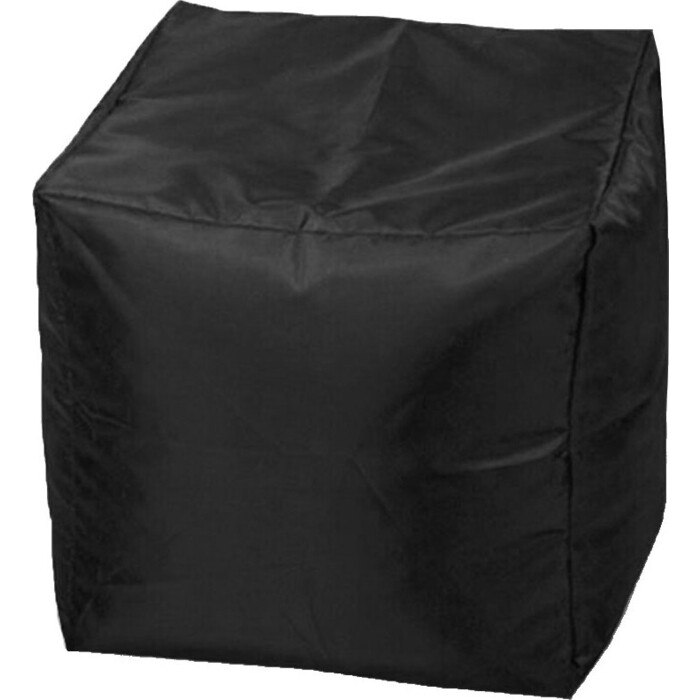 Пуфик бескаркасный Mypuff Кубик черный оксфорд k-020