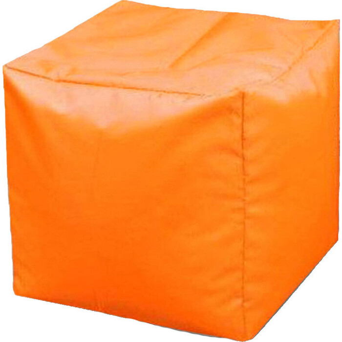 Пуфик бескаркасный Mypuff Кубик апельсин оксфорд k-021