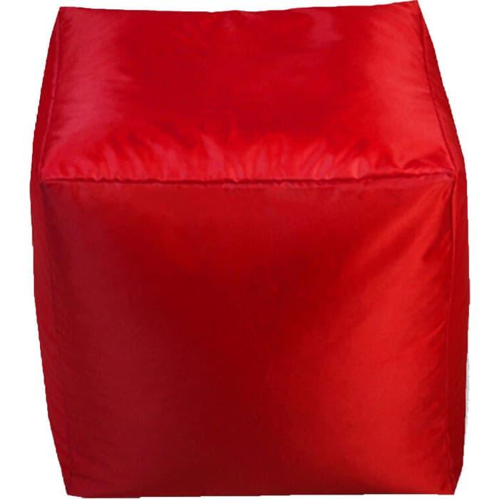 Пуфик бескаркасный Mypuff Кубик красный оксфорд k-025