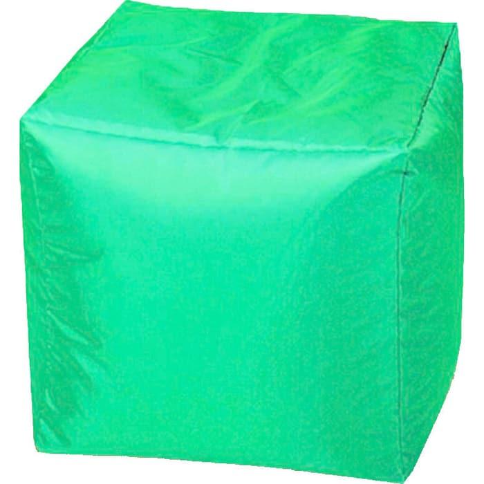 Пуфик бескаркасный Mypuff Кубик яблоко оксфорд k-217
