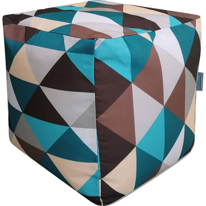 Пуфик бескаркасный Mypuff Кубик ромб мебельный хлопок k-248