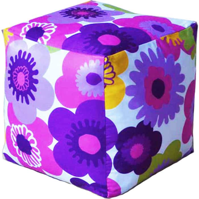 Пуфик бескаркасный Mypuff Кубик Пуэрто Плата фиолетовый мебельный хлопок k-319 пуфик бескаркасный mypuff кубик космос мебельный хлопок k 516