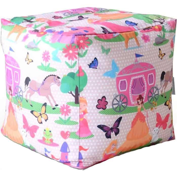 Пуфик бескаркасный Mypuff Кубик принцесса мебельный хлопок k-360