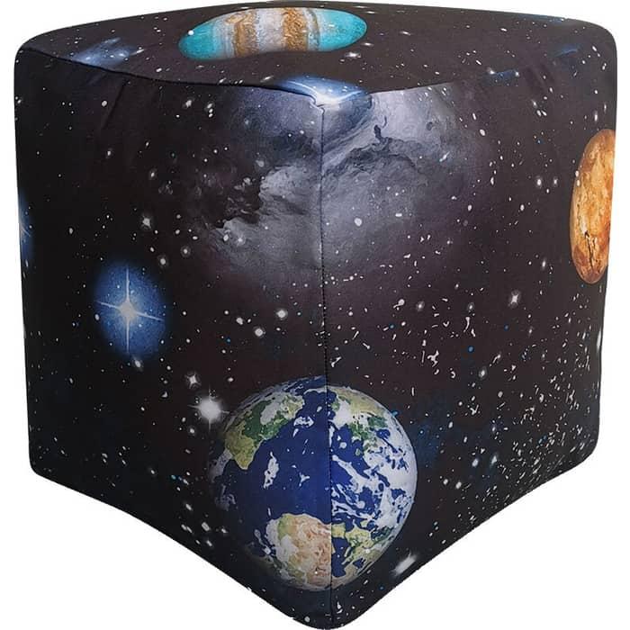 Пуфик бескаркасный Mypuff Кубик космос мебельный хлопок k-516 пуфик бескаркасный mypuff кубик космос мебельный хлопок k 516