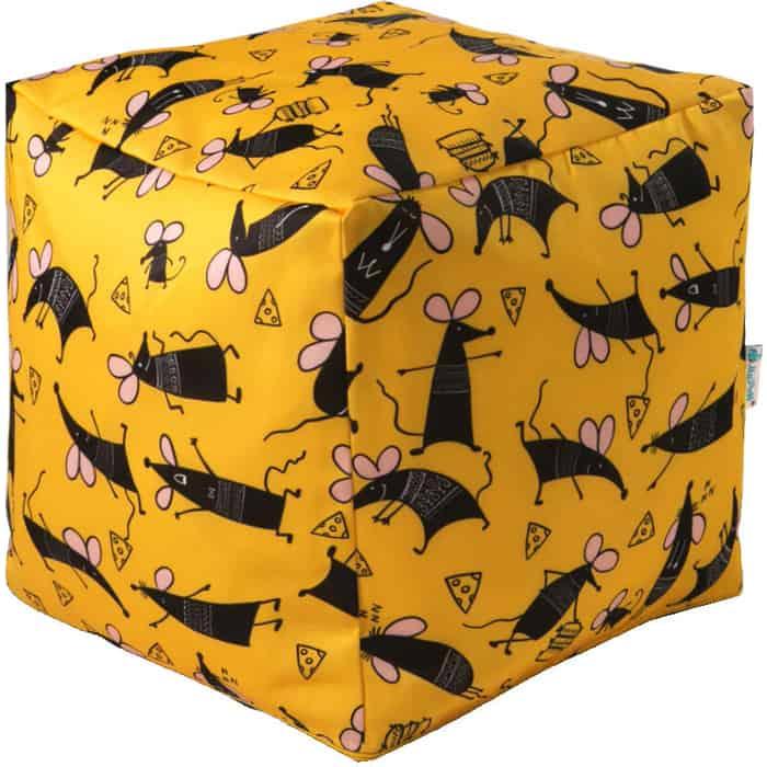 Пуфик бескаркасный Mypuff Кубик символ года мебельный хлопок k-576 пуфик бескаркасный mypuff кубик космос мебельный хлопок k 516