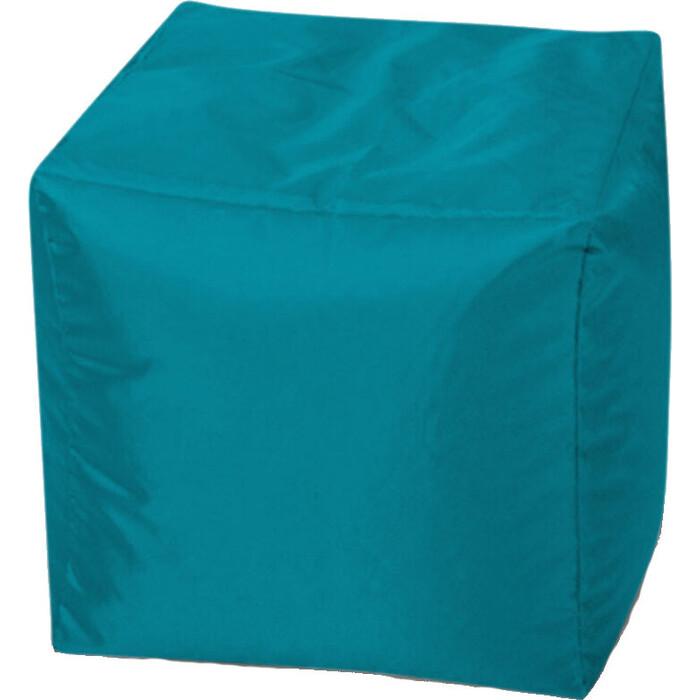 Пуфик бескаркасный Mypuff Кубик темно-голубой оксфорд k-587