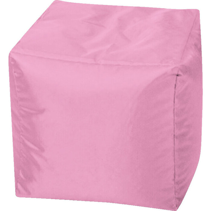 Пуфик бескаркасный Mypuff Кубик пыльно-розовый оксфорд k-608