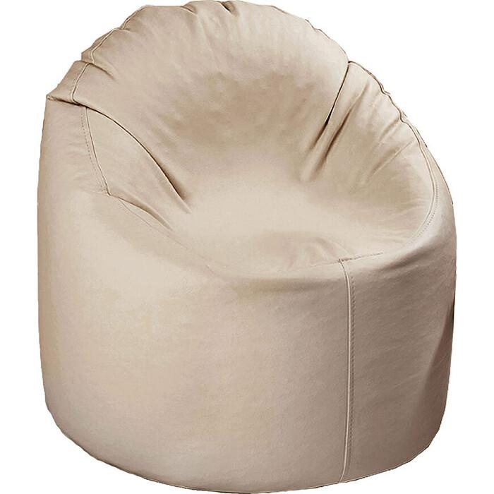кресло бескаркасное mypuff лаунж отто бежевый экокожа l 434 Кресло бескаркасное Mypuff Лаунж отто молоко экокожа L-056