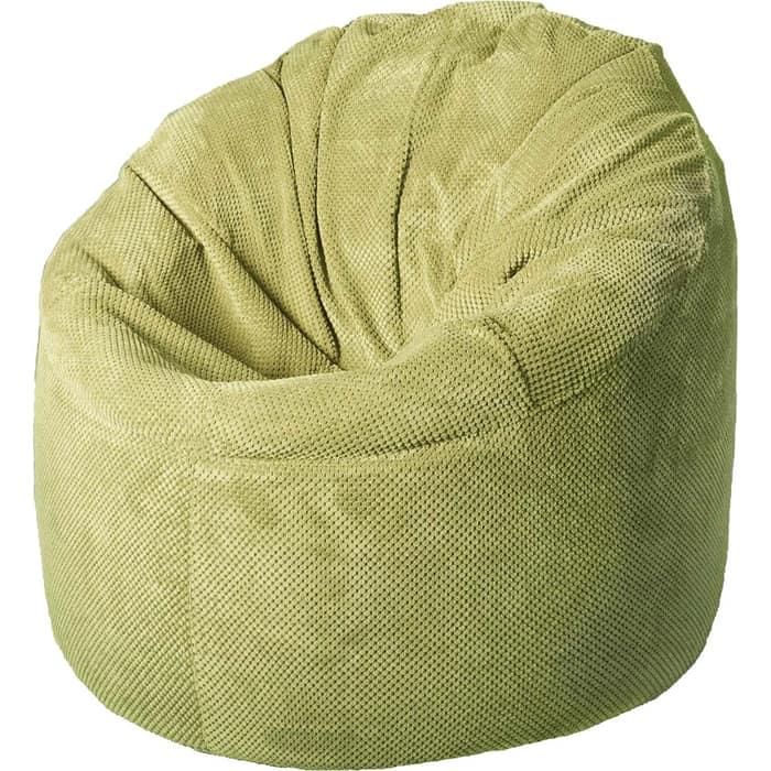 Кресло бескаркасное Mypuff Лаунж салатовый объемный велюр L-505