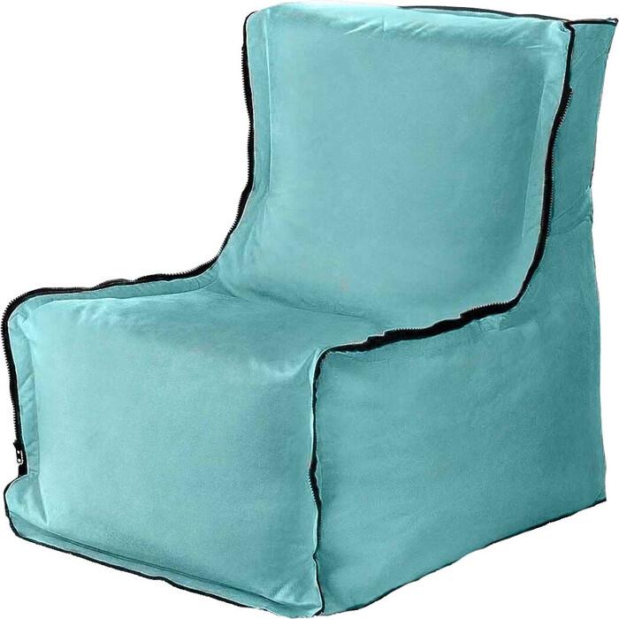 Бескаркасное кресло Mypuff Лофт ментол мебельный велюр lf-292