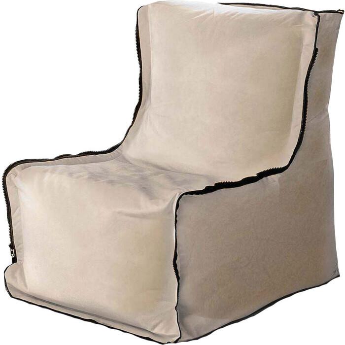 Бескаркасное кресло Mypuff Лофт латте мебельный велюр lf-423