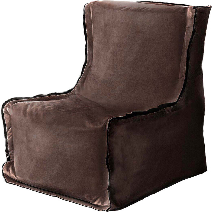 Кресло бескаркасное Mypuff Лофт шоколад мебельный велюр lf-427