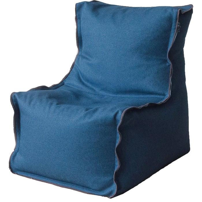 Кресло бескаркасное Mypuff Лофт синий жаккард-мальмо lf-441
