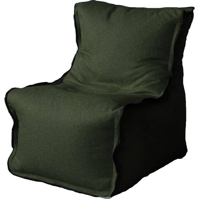 Бескаркасное кресло Mypuff Лофт зеленый жаккард-мальмо lf-445