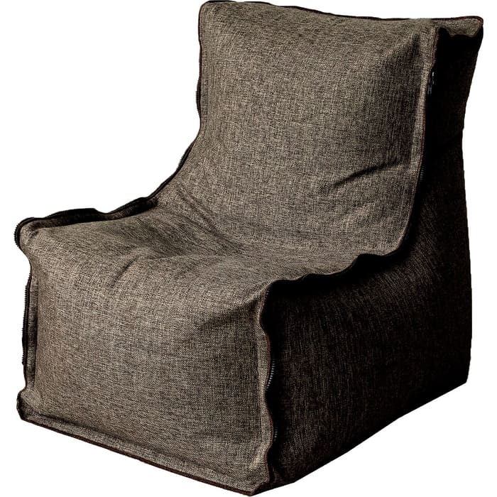 Кресло бескаркасное Mypuff Лофт коричневый жаккард lf-447