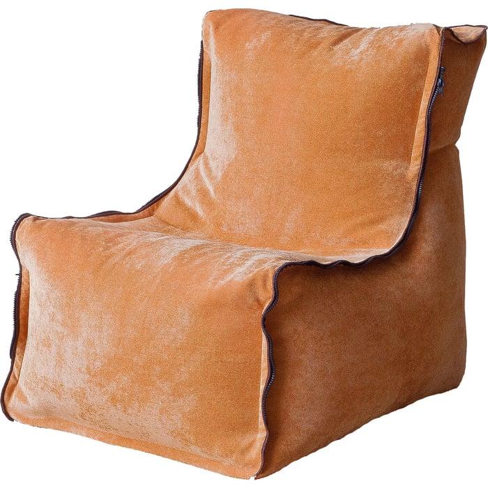 Бескаркасное кресло Mypuff Лофт-Элит лисий микровельвет lf-451
