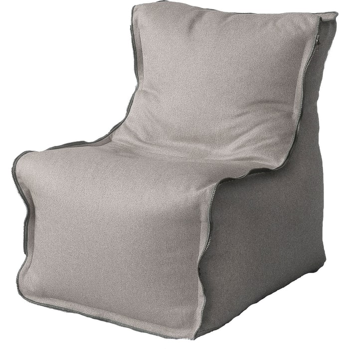Бескаркасное кресло Mypuff Лофт-Элит светло-серый микровельвет lf-458