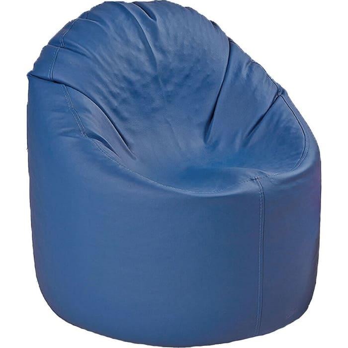 Mypuff Пуфик mini синий экокожа p-061