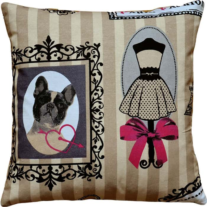 Декоративная подушка Mypuff Париж фэшн мебельный хлопок pil-049
