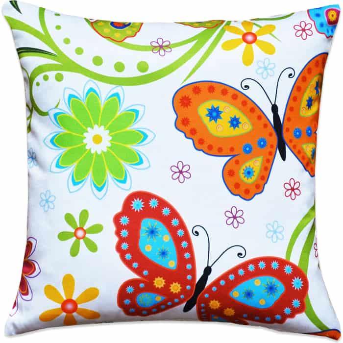 Декоративная подушка Mypuff Бабочки мебельный хлопок pil-315