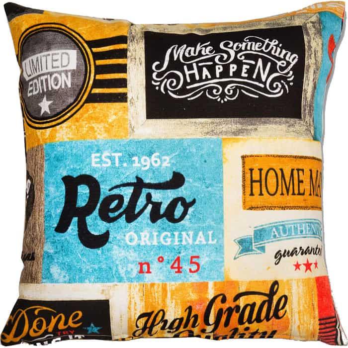 Декоративная подушка Mypuff Лейбл мебельный хлопок pil-513