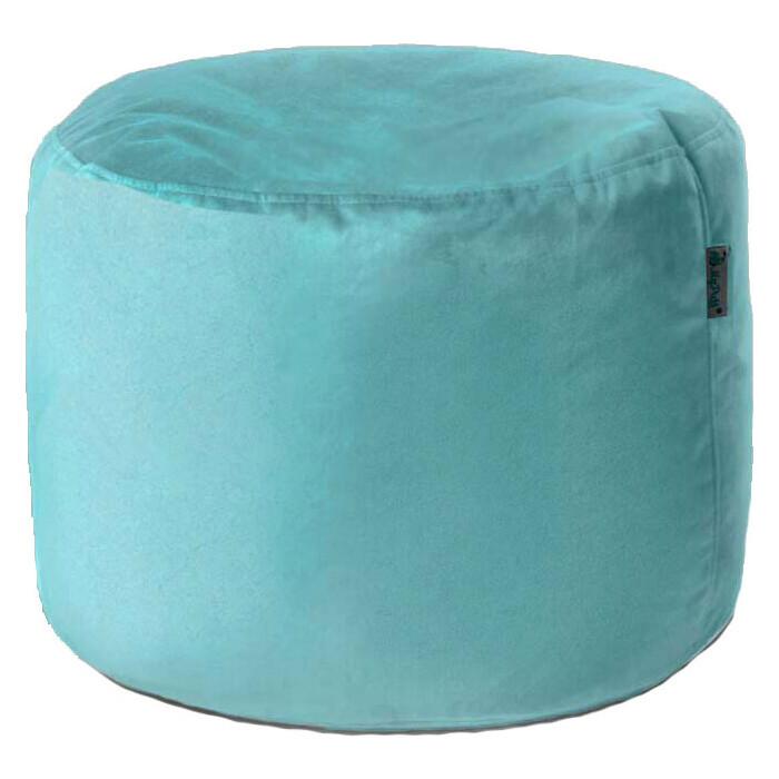 Пуфик бескаркасный Mypuff Цилиндр ментол мебельная ткань pkv-292