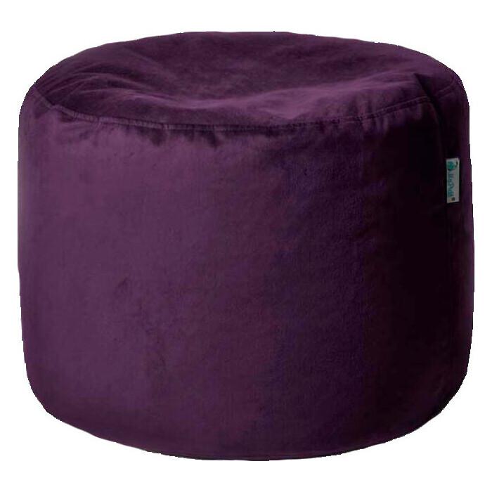 Пуфик бескаркасный Mypuff Цилиндр баклажан мебельная ткань pkv-467
